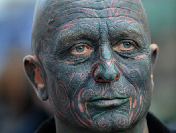 Czech fully-tattooed artist and drama professor Vladimir Franz is running for presidential elections