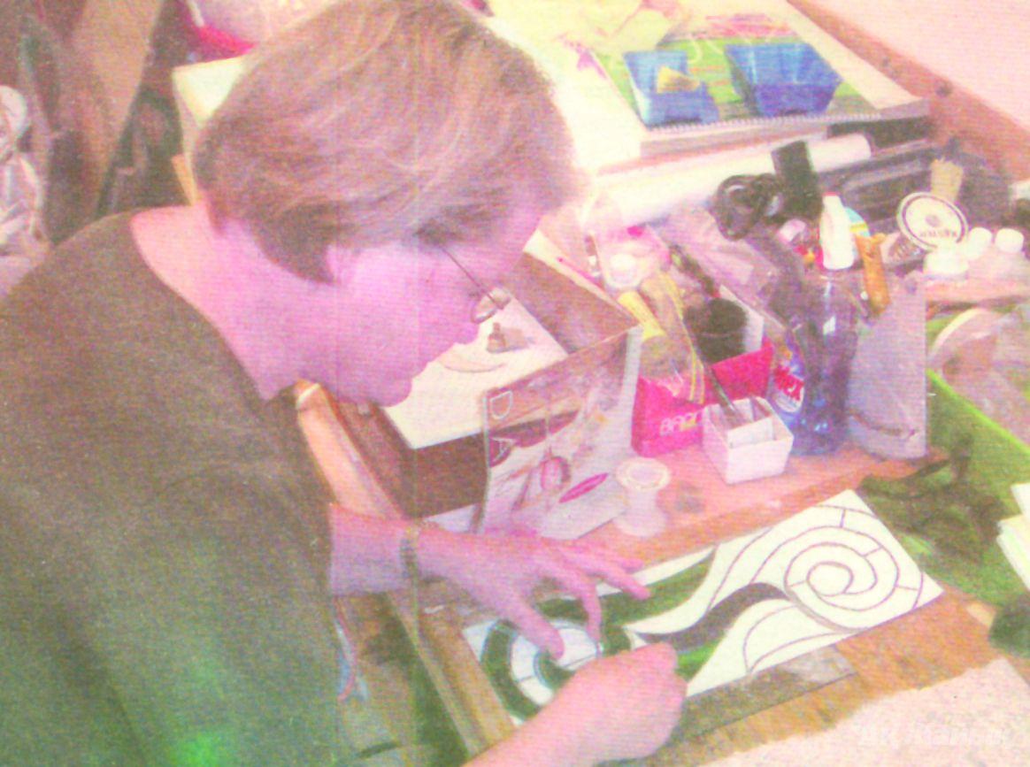 Terrie in her studio