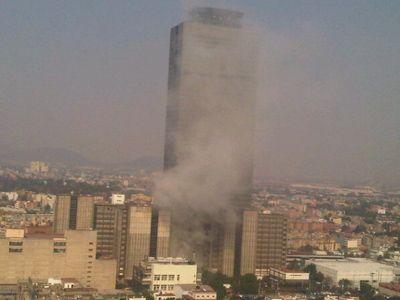 The 54-floor Pemex building is 214 metres (702 feet) tall