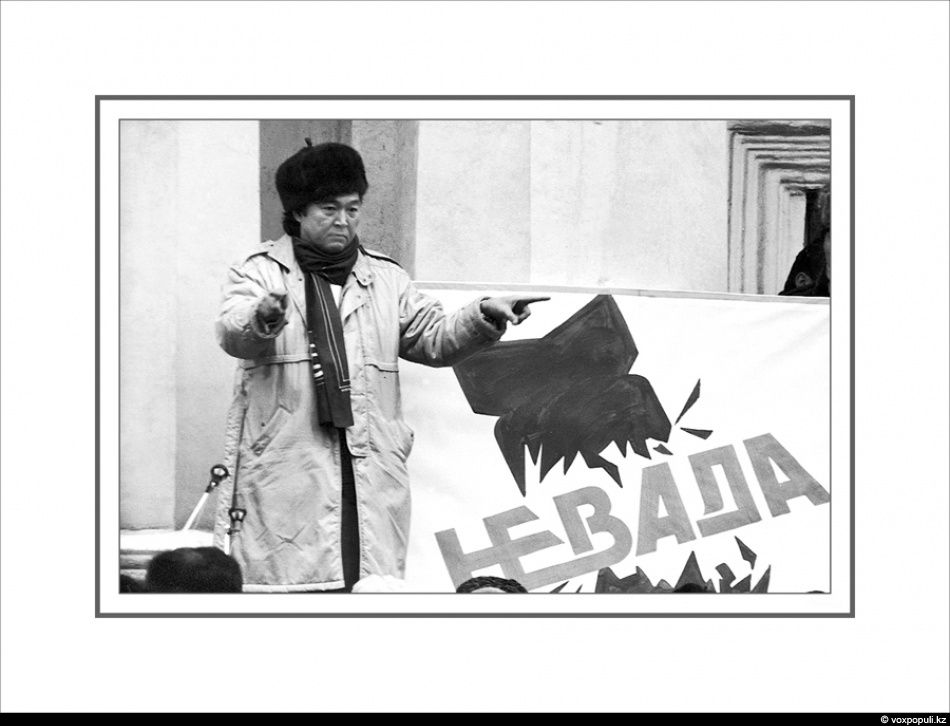 the Kazakh poet Olzhas Suleimenov led an anti-nuclear movement Nevada-Semipalatinsk
