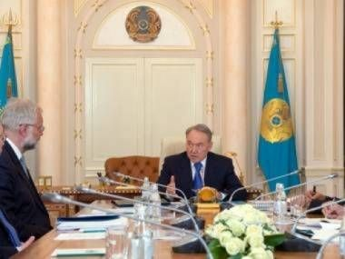 Grigory Marchenko and President Nazarbaev
