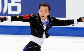 Abzal Rakimgaliev won silver in male single figure skating