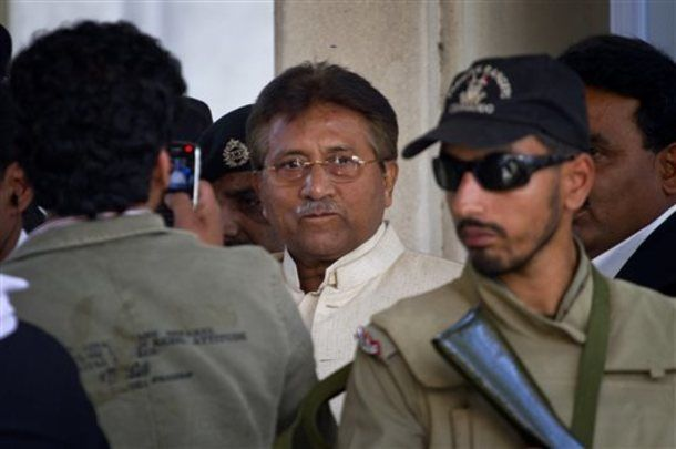 Pakistan's Supreme Court ordered Musharraf to respond to allegations that he committed treason while in power, and barred him from leaving the country only weeks after he returned.