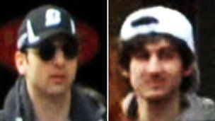 The FBI has released several images of the suspects