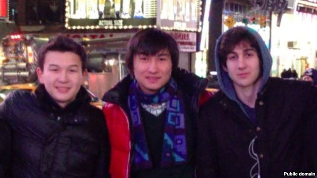 Azamat Tazhayakov and Dias Kadyrbaev with Dzhokhar Tsarnaev.Photo: VKontakte