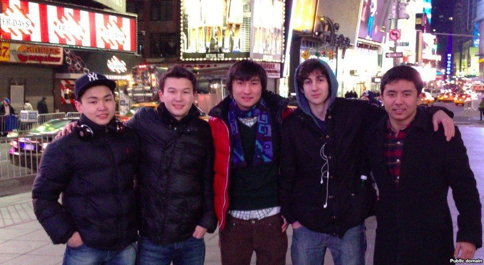 Students from Kazakhstan: Dias Kadyrbaev and Azamat Tazhayakov with Dzhokhar Tsarnaev. Photo:VKontakte