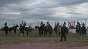 Horse racing is popular across Turkmensitan