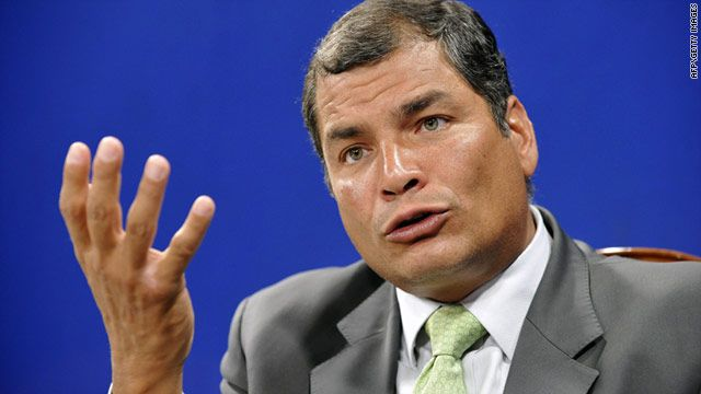 President Rafael Correa said Ecuador could not yet consider Mr. Snowden's asylum request.