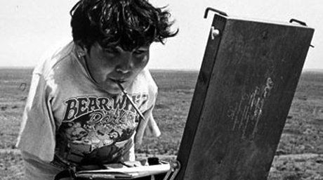 Kazakhstan artist Karipbek Kuyukov. Photo courtesy of kazpravda.kz