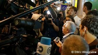 After Snowden's meeting with activists, the press swarmed those who participated