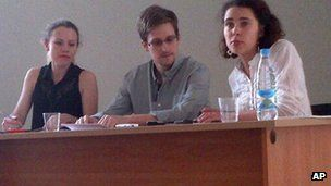 Mr Snowden re-emerged at a news briefing at the airport last week
