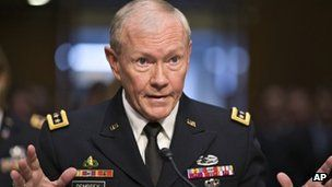 The Senate is currently considering re-appointing Gen Dempsey for a second term in his job