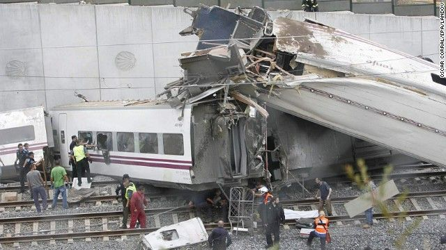 A train crash in northwestern Spain on Wednesday, July 24, has left dozens of people dead, officials said. The train crashed near the city of Santiago de Compostela. Officials are investigating the cause of the crash but do not believe terrorism was involved.