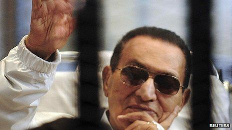 Hosni Mubarak has appeared frail in some of his court appearances