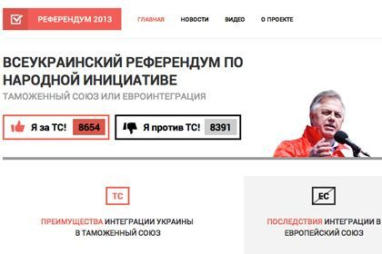 Screenshot, referendum2013.in.ua