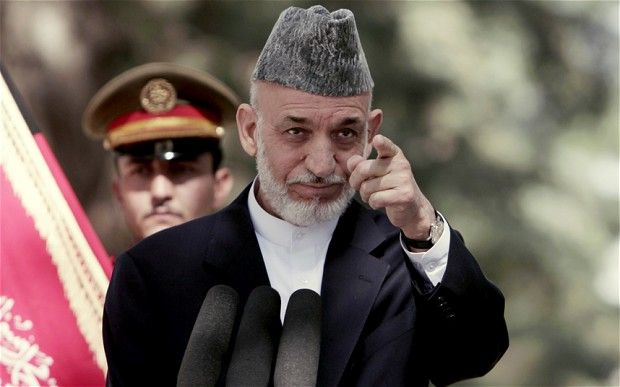 Mr Karzai attacked the 12-year Western war effort in Afghanistan Photo: AP