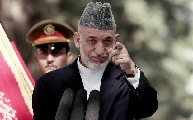 Mr Karzai attacked the 12-year Western war effort in Afghanistan Photo: AP