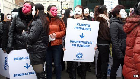 These prostitutes in Paris say it is wrong to criminalise their clients