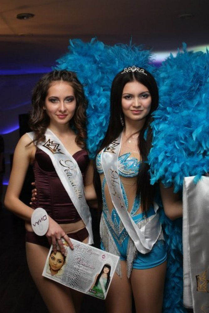 Miss Bikini of Atyrau Nazerke Faizulina and Kamila Shopenova