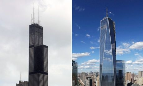 The Willis Tower, left, and One World Trade Center. Photograph: AP