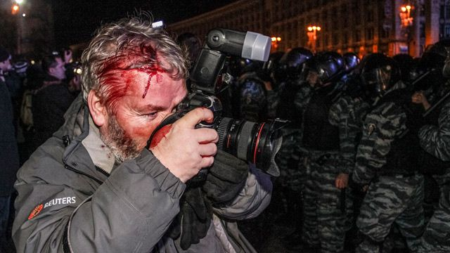 Reuters' journalist, Dec. 1, 2013, Kiev