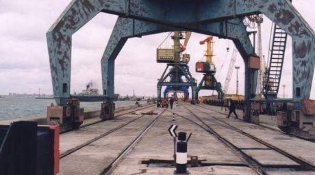 Aktau port. Photo courtesy of portaktau.kz