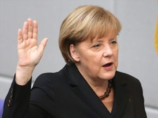 Chancellor Angela Merkel has been sworn in to a third term as Germany's head of government. Source: AAP
