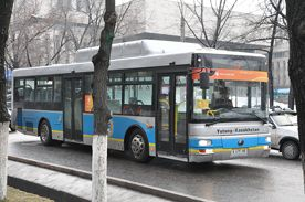 A CNG bus from a previous EBRD project in Almaty.