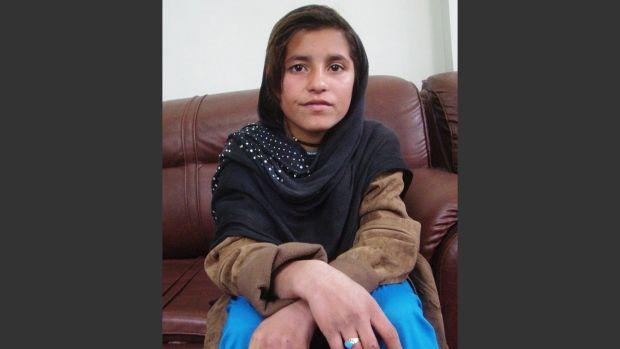 An Afghan girl known as Spozhmai is held in protective custody in Lashkargah, capital of Helmand province, Afghanistan, Wednesday, Jan. 8, 2014. AP