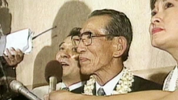 Hiroo Onoda, the Japanese soldier who hid out in the jungle for 30 years refusing to belive that WW2 ened.