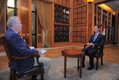 Bashar Al-Assad gave an exclusive interview to France Press.