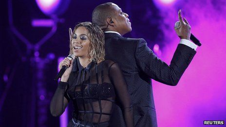 Jay-Z and his wife Beyonce opened the night