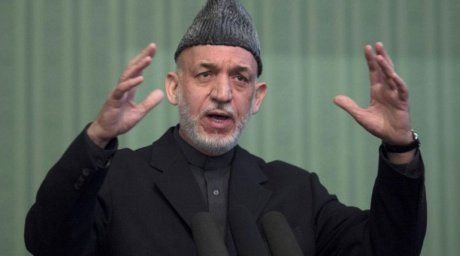 Afghan President Hamid Karzai addresses a press conference at the Presidential Palace in Kabul on January 25, 2014. ©AFP