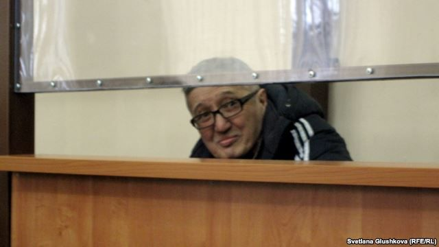Bakhytzhan Kashkumbaev, a Christian Presbyterian Church pastor, in the courtroom in Astana.