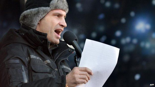 The phone call apparently suggests Vitaly Klitschko should not be a part of government