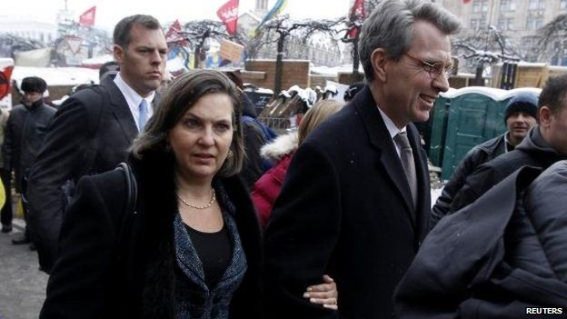 Victoria Nuland joined Ambassador Geoffrey Pyatt during her visit to Kiev in December