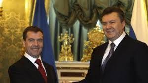 Dmitry .Medvedev and Viktor Yanukovich.