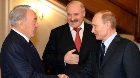 Presidents of Kazakhstan, Russia and Belarus. Photo courtesy of Akorda.kz