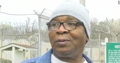 First steps to freedom: Glenn Ford, 64, walks out of a maximum security prison, in Angola, La., after having spent nearly 26 years on death row.