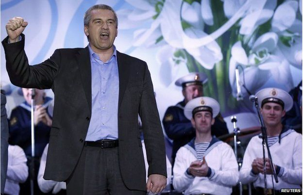 Crimea's pro-Moscow leader Sergei Aksyonov said he would send a formal request to join Russia on Monday.