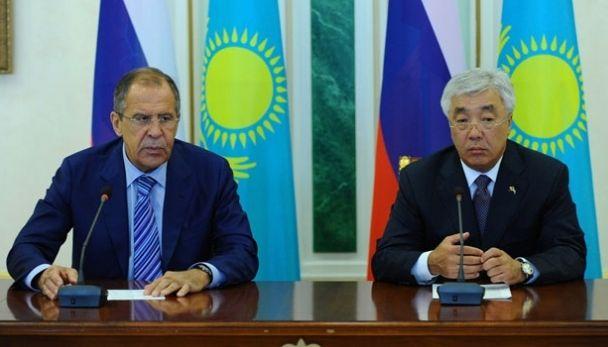 Yerlan Idrissov and Sergey Lavrov
