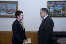 Natalia Galibarenko met with Ambassador of the Republic of Kazakhstan in Ukraine Zautbek Turisbekov