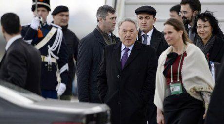 President Nazarbayev arrived to Netherlands on March 23, 2014 (Photo:AFP)