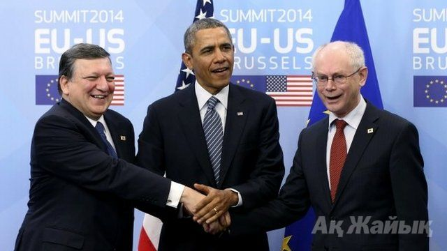 US President Obama gives news briefing on EU talks