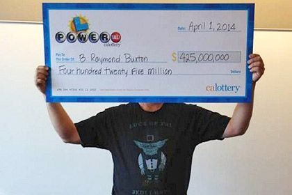 Lottery winner B. Raymond Buxton. Photo: California State Lottery