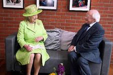 President of Ireland M.D. Higgins and the Queen