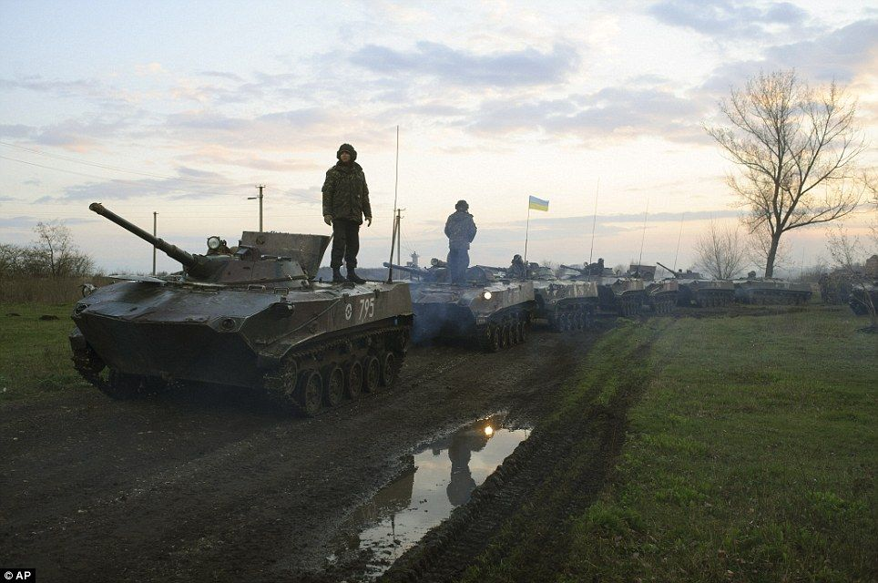 Ukrainian military forces trying to regain control of eastern parts of the country.