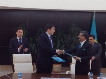 Protocol has been inked between Kazakhstan and India for exploration of Caspian Abai oil block. Photo:aninews.in
