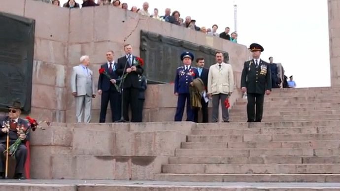 Ukraine Kherson region governor called Hitler 'liberator' addressing the public on V-Day