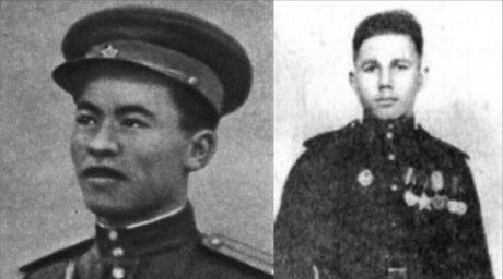 Rakhimzhan Koshkarbayev and Grigory Bulatov were the first who planted the Soviet banner over the Reichstag.